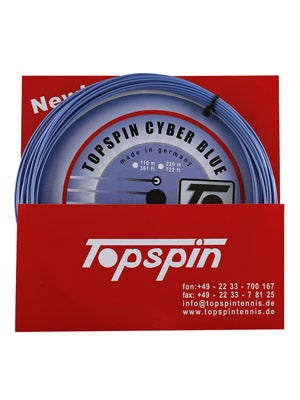 Topspin Cyber Blue 16 tennis string review
