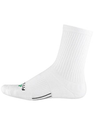 Fitsok CF2 Crew Cushion 2 Pack Socks White