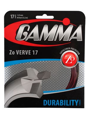 2012 gamma zo verve tennis string, two tone, black and red