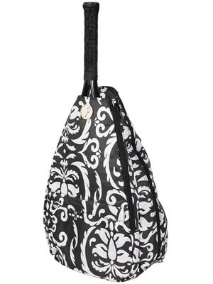 Jet Small Sling Bag Black and White Paisley