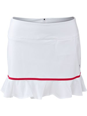 Jofit Women's Ruffle Bottom Skort White/Cherry