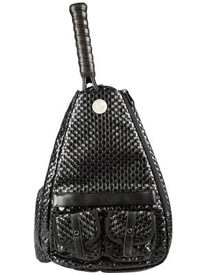 Jet Small Sling Convertible Bag Ebony Weave