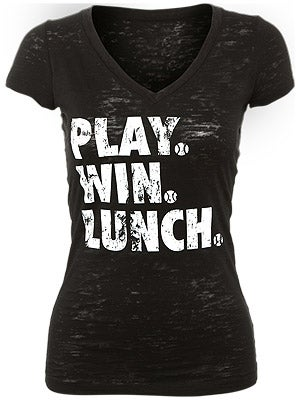 LoveAll Women's Play.Win.Lunch. Tee