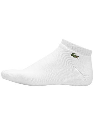 Lacoste Men's Low Cut 3-Pack Socks White Size 6