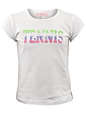 Little Miss Tennis Girl's Sparkling Tennis Tee