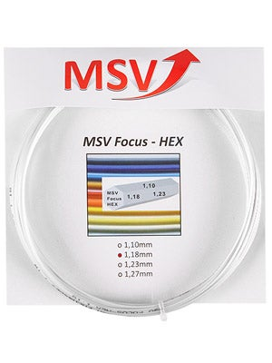 MSV Focus Hex 17l tennis string review