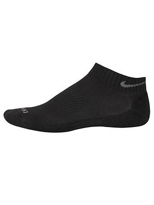 Nike Dri-Fit Low-Cut Socks 3-Pack Bk/Gy LG