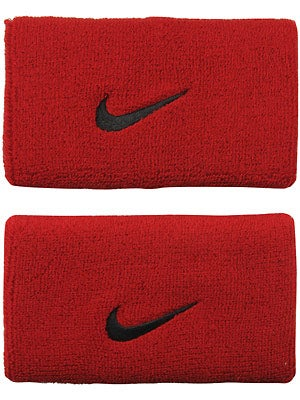 Nike Swoosh Double Wide Wristband Red/Black