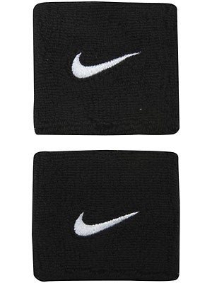 Nike Swoosh Wristband Black/White