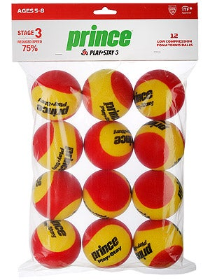 Prince Stage 3 Red Foam Ball 12 Pack