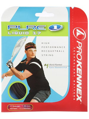 ProKennex Pure Liquid 17 Black Racquetball String