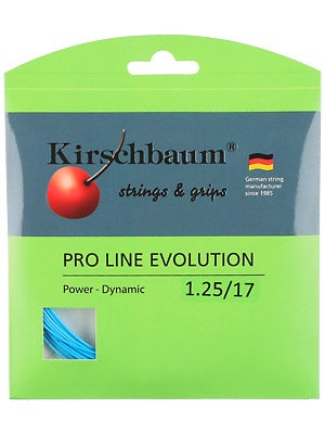 kirschbaum pro line evolution 17 tennis string review. Black Bedroom Furniture Sets. Home Design Ideas
