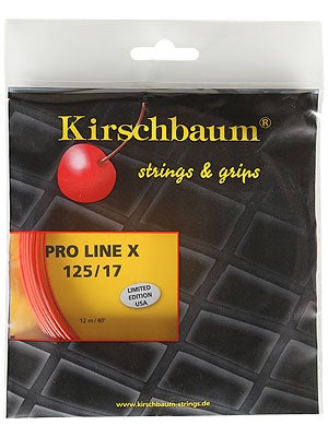 Kirschbaum Pro Line X 17 (1.25) String Ch/Orange 4-Pack