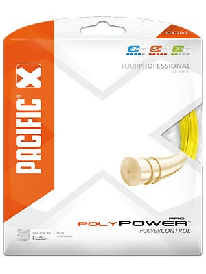 pacific atp poly power pro 16l tennis string yellow