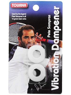 Pete Sampras Tourna Vibration Dampener White (2 pack)