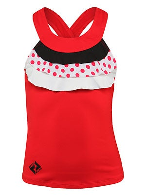 Switch Girl's Ruffle Polka Dot Tank