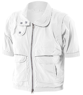 adidas by Stella McCartney - Tennis Perf Short Sleeve Jacket (White) - Apparel