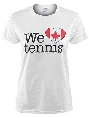 We Love Tennis Women's Canada T-Shirt