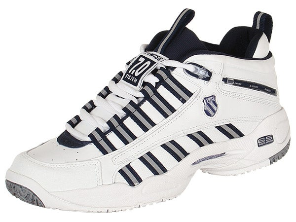 KSwiss Ultrascendor Mid White/Navy Mens Shoes