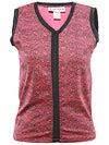 Jerdog Women's Bordeaux Lace V-Neck Tank