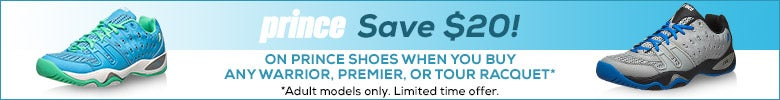 Save $20 on Prince Shoes