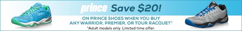 Save $20 on Prince Shoes