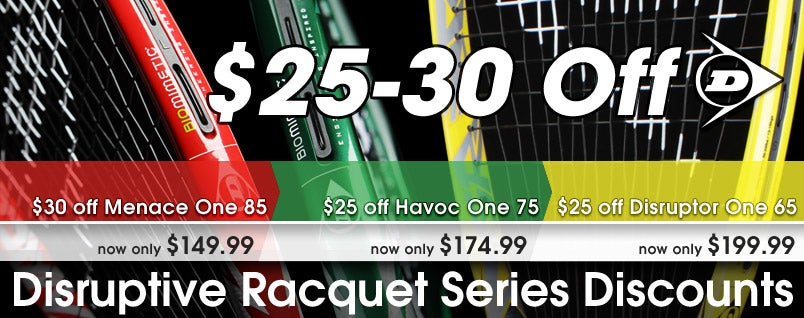 Dunlop Disruptive Series Sale