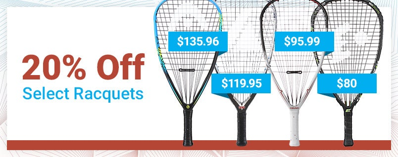 20% Off Racquets Sale