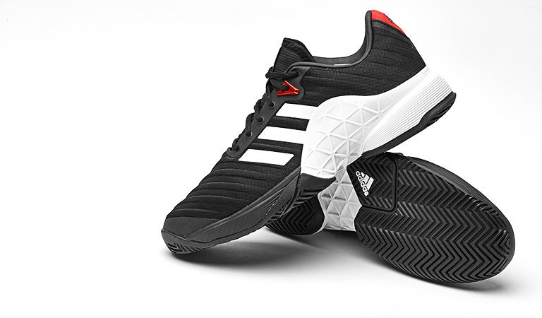64a43eae4c40c6 Tennis Warehouse - adidas Barricade 2018 Black Red Men s Shoes Review