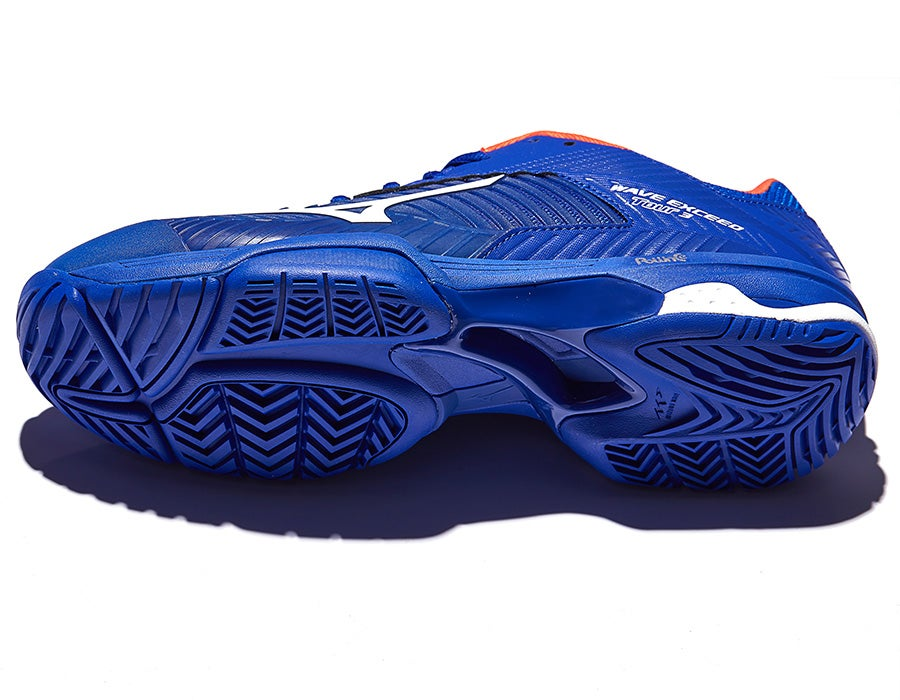 Men's Tennis Shoes | Mizuno Wave Exceed Tour 3 AC BlueWhite