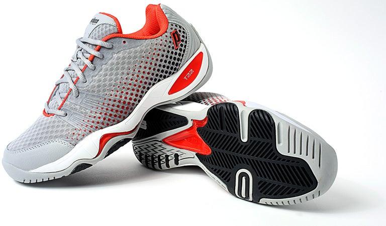 Tennis Warehouse - Prince T22 Lite Grey/Red Men's Shoe Review