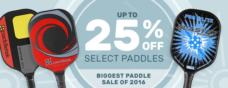 25% Off Select Paddles