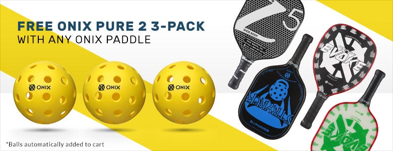 Free Onix pure 2 3-pack with purchase of an Onix paddle