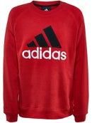 adidas Boy's Fall Cotton Fleece Crew Sweatshirt