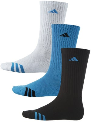 adidas Men's 3-Stripe 3-Pack Crew Socks Bk/Wh/Bl