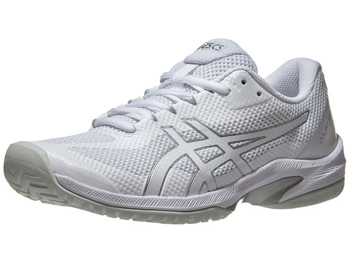 Anormal Atticus Caso Wardian  Asics Court Speed FF White/Silver Women's Shoes