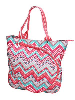 All For Color Tennis Tote Sunset Chevron