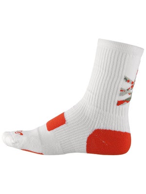 Asics Flash Point Crew Socks White/Orange