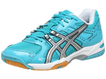 ASICS Gel Rocket 6 Turquoise/Silver Women's Shoes