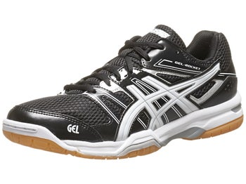 ASICS Gel Rocket 7 Black/White/Silver Men's Shoes