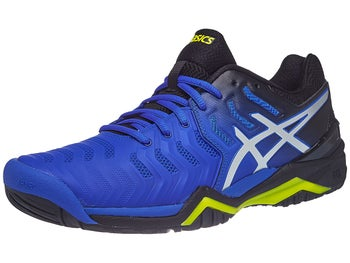 57424e1297 Product image of Asics Gel Resolution 7 Black/Blue/Yellow Men's Shoes