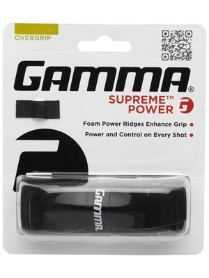 Gamma Supreme Power Overgrip Black