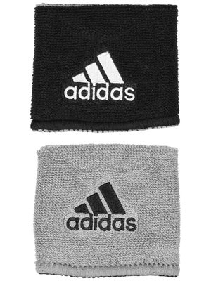 adidas Interval Small Reversible Wristband Black/Grey