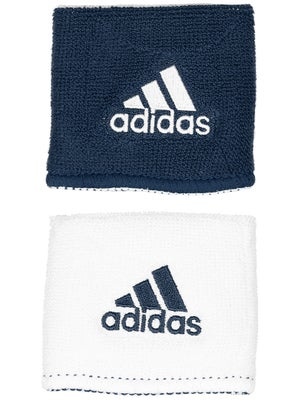 adidas Interval Small Reversible Wristband Navy/White