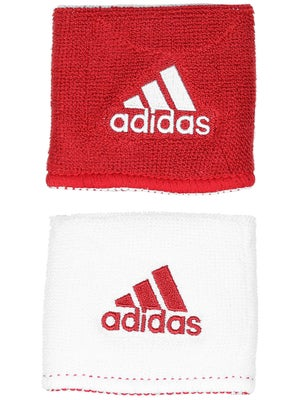adidas Interval Small Reversible Wristband Red/White
