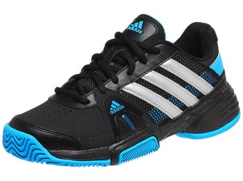 adidas Barricade Team 3 xJ Bk/Silver/Blue Junior Shoes