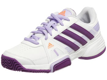 adidas Barricade Team 3 xJ White/Purple Junior Shoes