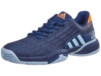 Adidas Barricade  Xj Blue Orange Junior Shoes