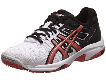 Asics Gel Resolution 5 White/Black/Red Junior Shoe