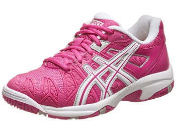 Asics Gel Resolution 5 Pink/White Junior Shoe